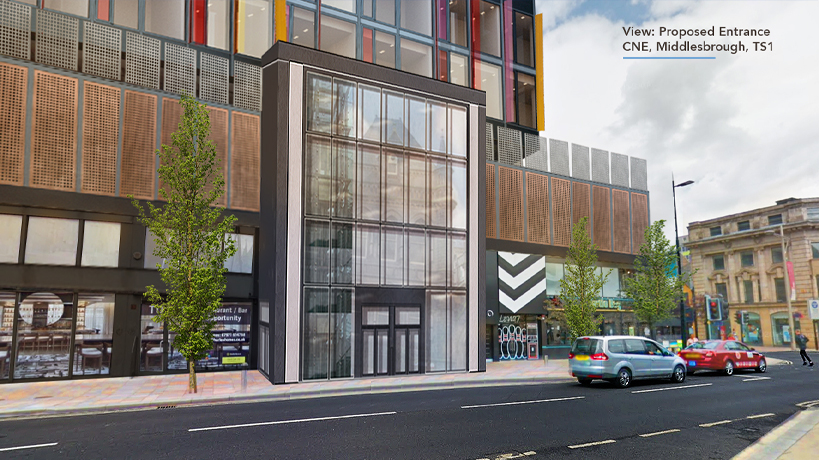Proposed Entrance to Centre North East